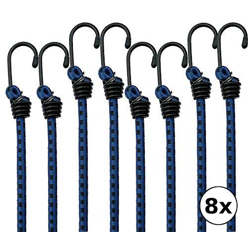NOITRA Premium Gepäckspanner 8er Set Mit Metallhaken   2 Jahre Zufriedenheitsgarantie   Extra Stark und Widerstandsfähig   Spanngurte / Expander / Gummispanner