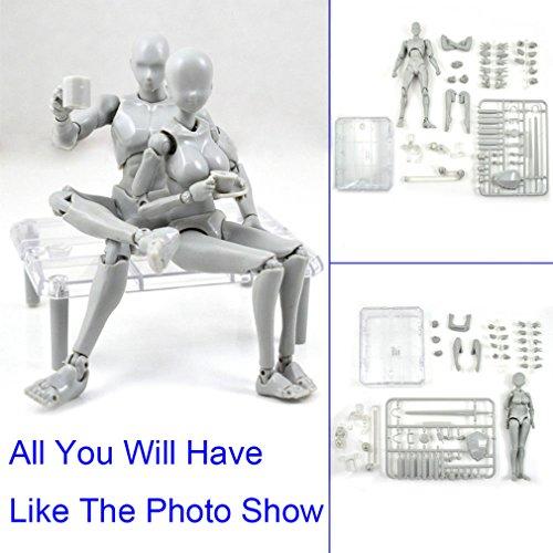 Action Figuren Modell, Starall Menschliche Schaufensterpuppe 2.0 Körper Kun Puppe Body-Chan Mann / Frau Action-Figur DX-Set mit Zubehör-Kit, ideal zum Zeichnen, Skizzieren, Malerei (Zubehör Körper)