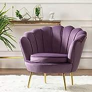 Round shaped Flower chair - Mettle legs - velvet
