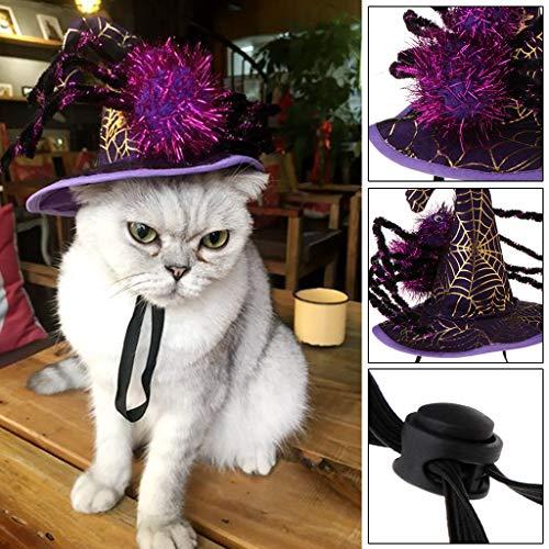 Autone Haustier Halloween Spinnenhut, Hund Katze Welpen Fancy Cosplay Kostüm Urlaub - Urlaub Hunde Kostüm