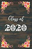 Class of 2020: Star Studded Pink & Yellow Flowers Blank Notebook for 2020