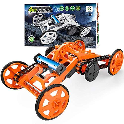 zeug für Kinder DIY Gebäude Kreative Montage Set Fahrzeuge, Geschenke für Kinder ab 8 Jahren(Orange) ()