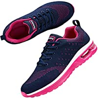 Nishiguang Women Air Trainers Lightweight Breathable Casual Sports Sneaker Running Walking Shoes BlueRed38