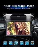 Ultra sottile Overhead MP5Player touch key 1080p HD IPS monitor Flip Down lettore roof-mounted con telecomando a doppia cupola luci LED supporta USB SD HDMI 33,8cm nero