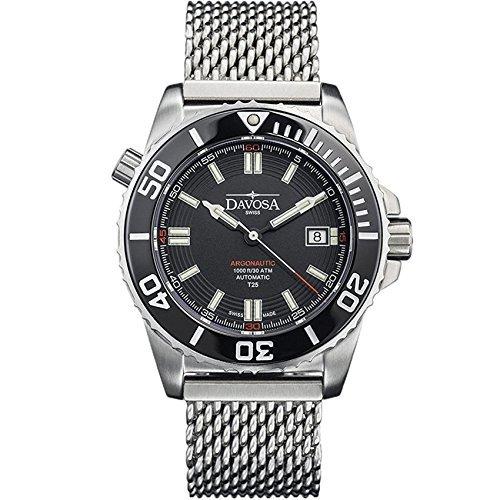 Davosa Swiss Argonautic Lumis Tritium 16152010Herren Armbanduhr Stahl, schwarz Face