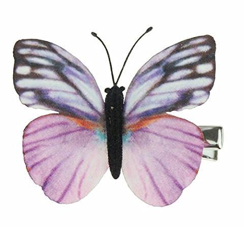 Paire de filles 4.5cm Tissu délicat Aile Papillon Monarque Cheveux Pince bec