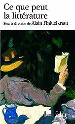 Ce que peut la littérature
