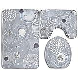 Best Black Diamond Shower Tiles - Bath Mats, Diamonds Circles Nonslip Rectangular Flannel Shower Review