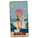 Homyl Retro Shabby Metallschilder Blechschilder Wanddeko Plakat, Auswahl - Strandbar