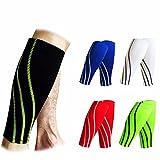 Fitdoo Wadenbandage Calf sleeves wadenschutz Wadenwärmer Wadensleeve wadenschoner mit Muster für Damen und Herren Schwarz XL