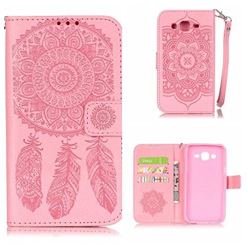 Boxtii® - Custodia a portafoglio in ecopelle per iPhone 6/ 6S, comprensiva di pellicola di protezione in vetro temperato, elegante custodia a libro con cover interna in silicone, cinturino da polso e  #2 Pink