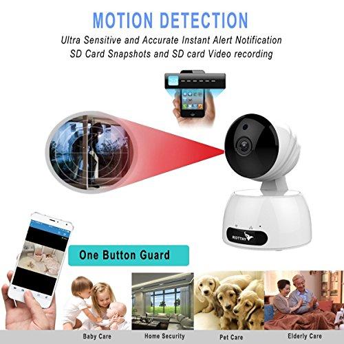 Telecamera di Sorveglianza IP camera wifi Rottay 720P HD wireless,Obiettivi Ruotabile, Audio Bidirezionale, Modalit¨¤ Notturna a Infrarossi, Controllo Remoto, Compatibile con iOS e Android e PC - 3