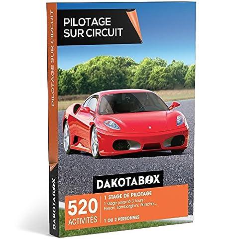DAKOTABOX - Coffret Cadeau - PILOTAGE SUR CIRCUIT - 520 activités : 1 stage de pilotage jusqu'à 3 tours : Ferrari, Lamborghini, Porsche…