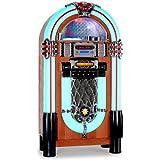 Auna Graceland-XXL Jukebox groß Retro Stereoanlage 50er Jahre Musikbox (USB-SD-Slot, AUX, MP3-CD-Player, UKW-Radio, Holz-Gehäuse mit LED-Beleuchtung, Fernbedienung)