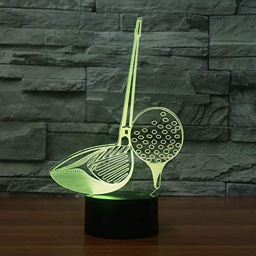 Golf 3D LED Nachtlicht 7 Farbwechsel Acryl Tischlampe als Hauptdekorationen Lichter Beste Geschenk Für Ehemann Vater Freunde