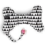 Simply Good Butterfly Neck Cushion Coussin Papillon de Support de Tête et de Cou pour le Voyage et Porte-tétine pour Bébés Cale Tète Nouveau-nés jusqu'à 36 Mois (Geo Love Noir sur blanc)