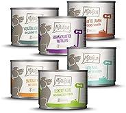 MjAMjAM - Premium nat voedsel voor honden - mixpakket II - met kip & eend, rund, kalf, kalf, lam, vrij van