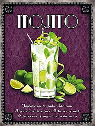 Mojito classique cocktail. Boisson, verre, Recette. Limons, rum, mint, sugar