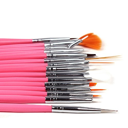 15 Stück XXL Set Pinsel Nagelmodellage Nagelpinsel Werkzeug Falsche Nägel Acryl UV Gel