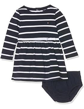 Tommy Hilfiger Baby-Mädchen Kleid Big Stripe Dress L/S