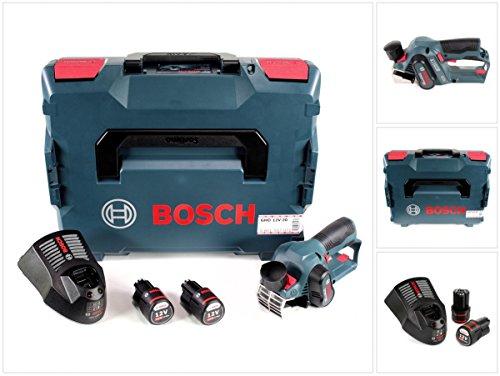 Bosch GHO 12V-20 Akku Hobel Professional in L-Boxx + 2x GBA 12V 2,0 Ah Akku + GAL 1230 CV Schnell Ladegerät