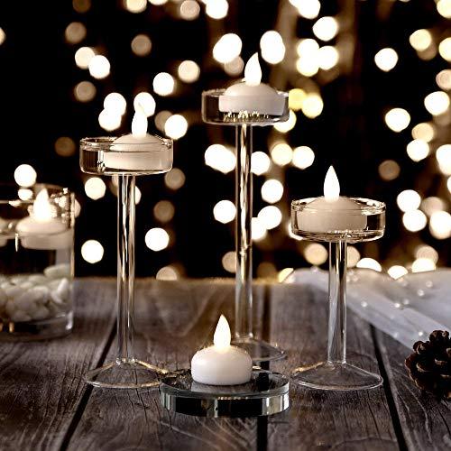 Flackern Teelichter / Schwimmende Kerzen für Mittelstücke, Langes Leben Wasser Aktiviert LED Teelichter für die Hochzeit Party Blumendekor Batterie im Lieferumfang (Kaltes Weiß) ()