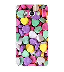 Printvisa Heart Shaped Candies Pattern Back Case Cover for Samsung Galaxy J7 (2016)::Samsung J710F