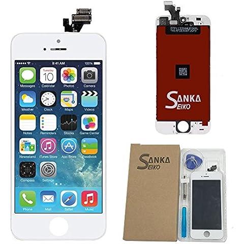 Para iphone 5 Pantalla táctil LCD + Herramientas,Color Blanco