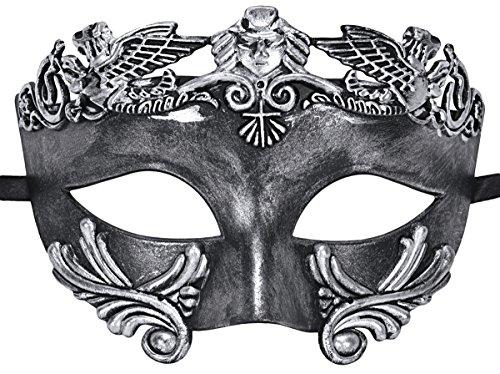 Coofit Mens Maskerade Maske Gesicht Griechischen und Römischen Stil Venezianische (Silber Maskerade Masken Für Abschlussball)