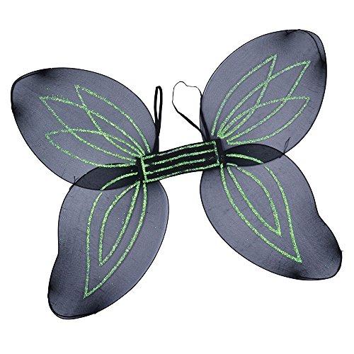 8Engelsflügel für Erwachsene, Schwarz, Einheitsgröße (Erwachsene Insekten Kostüme)