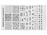 KONAD Stamping Schablone XL 15