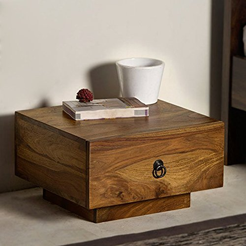 HomeEdge Glenray Bed Side Table Natural HEST005