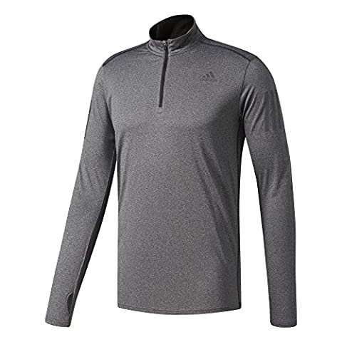 adidas Response Sweat-Shirt Homme, Gris, FR : M (Taille Fabricant : M)