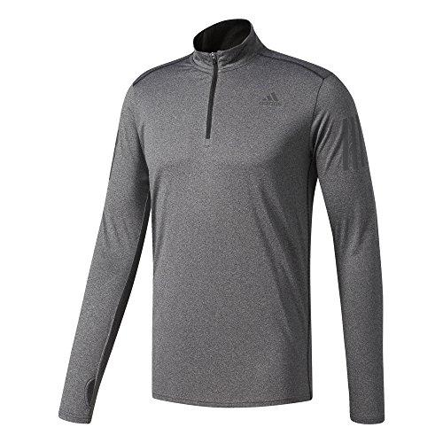adidas Herren RS LS Zip Tee M T-Shirt, Grey, L - Response Long Sleeve Tee