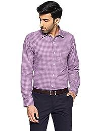 Arrow Men's Checkered Regular Fit Business Shirt