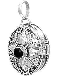 windalf colgante Sira H: 3.4Cm Medieval medallón con Onyx negro y mano de plata de ley 925