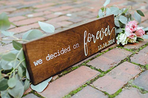 Brooer2ick Cartel rústico con Texto en inglés We Decided On Forever para...