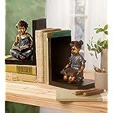 Wind & météo assis enfant Serre-livres–moulé en résine–détaillée Sculpture en bois–bases–5½ x 4¼ L x 6¾ H souple