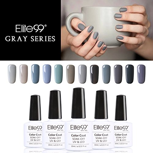 Elite99 Smalto Semipermente per Unghie in Gel UV LED 12pzs Colori Kit per Manicure Smalti Gel per Unghie Soak Off Base Coat Top Coat