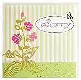 Grußkarte Sorry Entschuldigung Blume