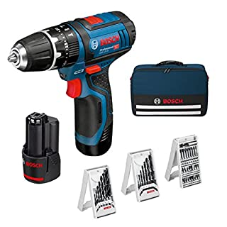 Bosch Professional GSB 12V-15 - Taladro percutor a batería (2 baterías x 2.0 Ah, 12V, 39 accesorios, en maletín de lona) (B00YYBBUBY) | Amazon price tracker / tracking, Amazon price history charts, Amazon price watches, Amazon price drop alerts