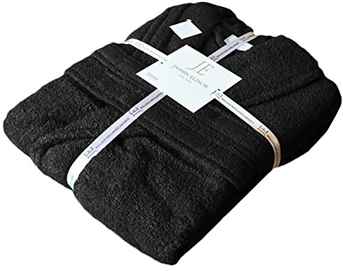 - 51XZ6yzvtjL - MENS LADIES UNISEX EGYPTIAN COTTON 500 GSM TERRY TOWELLING SHAWL COLLAR HOODED BATHROBE