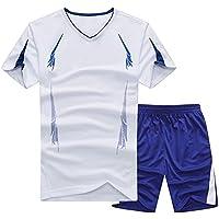 Homme Ensemble Survetement Séchage Rapide Casual T-Shirts À Manches Courtes  + Jogging Gym Running d762c047d57