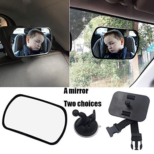Specchietto retrovisore bambini, specchio per auto sedile posteriore specchio, specchietto regolabile neonato per sicurezza poggiatesta posteriore auto nero
