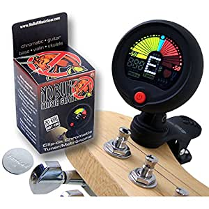 premium clip on guitar tuner metronome improve your sound and playing confidence with a. Black Bedroom Furniture Sets. Home Design Ideas