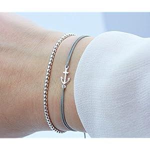 Armband ANKER Kugelarmband Set 925 Silber