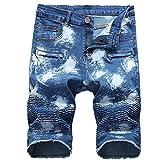 4335e4ff8e4 Tu tienda global Pantalones Jeans de Estiramiento Casual de los Hombres  Jeans Vintage de Cintura Alta para Hombre Pantalones de Ciclismo Rasgado  Agujero ...