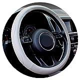 1pcs Noir Gris Beige PU Micro Fibre Couverture De Volant De Voiture 0907 pour Kia, Hyundai, Toyota, Honda, Rio; Lada,A- Gris