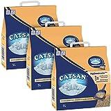 Catsan Agglomérante Plus - Litière pour chat 5L - Lot de 3