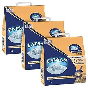 Litière Agglomérante Catsan Agglomérante Plus - 5 L - Lot de 3